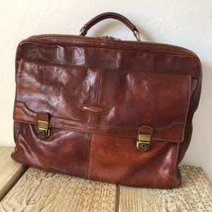 Bag, laptop bag, Vintage Picard, real leather
